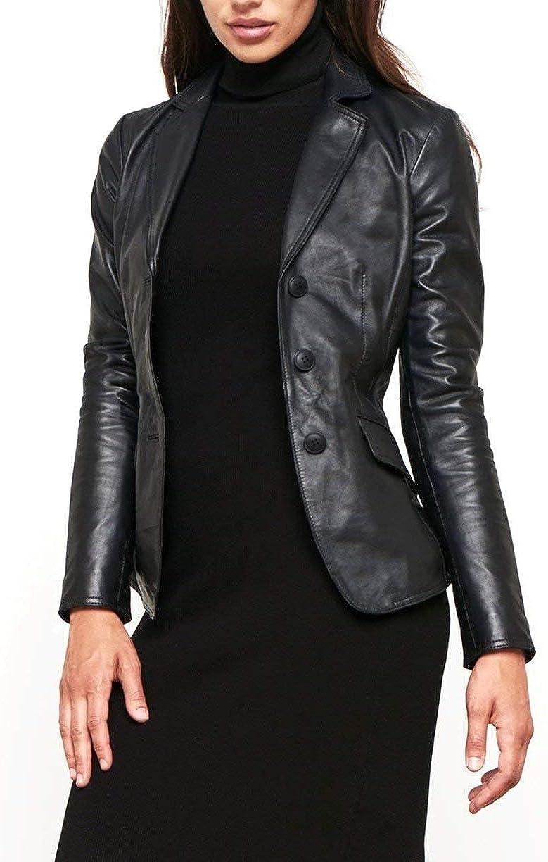 World Of Leather Women's Lambskin B Quantity limited Very popular! Jacket Short Genuine