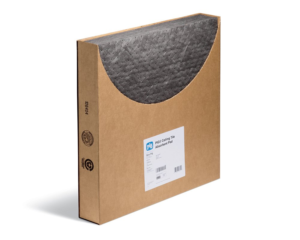 New Pig Corporation Absorbent Mat Pads for Leaky Ceiling Tiles b