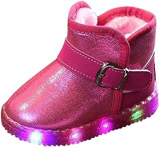 [Kukiwa] キッズブーツ LED、ライトシューズ 裏起毛 電池含め ピカピカ 幼児キッド ブーツシューズ 子供靴 男の子女の子 キッズシューズ 子供