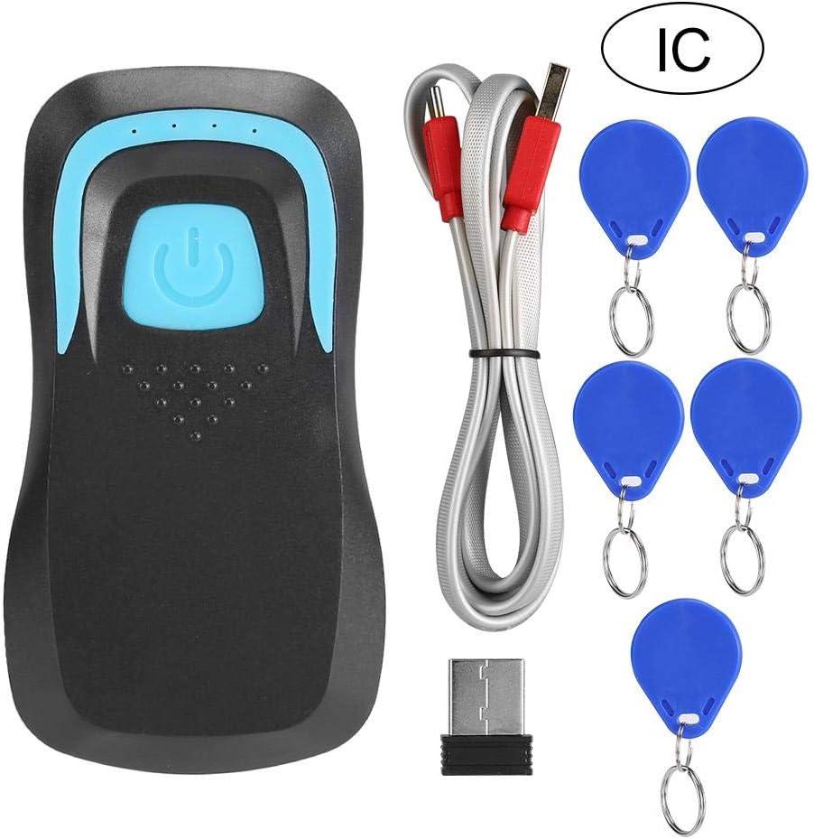 Draadloze codescanner 13.56M / 125Khz Frequentie gebaseerd op barcodeherkenning Bluetooth-kaartlezer op grote(white, ID+scan code) black, ID+scan code