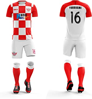 ORKY Customize Soccer Jersey Short Men Kids Personalized Name Number Croatia National Color Football Team Uniform