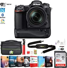Nikon 1560 D500 20.9 MP CMOS DX DSLR Camera with 16-80mm VR Lens Bundle with Battery Grip, 32GB Memory Card, Photo and Video Professional Editing, Deco Gear Camera Bag and Accessories (9 Items)