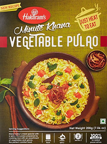 3x Haldiram´s Minute Khana Vegetable Pulao Fertiggericht 200g
