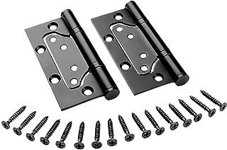 LICTOP Non-Mortise Mute Door Hinges,Black Bronze Stainless Steel Cabinet Door Hinges 2 Pcs