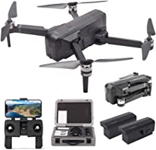 XFUNY SJRC F11 GPS Drone 5G WiFi FPV RC Drone Foldable 1080P Camera Record Video App Control iOS Android One-Key RTH Follow Me 3D Visual Brushless Motor Track Flight Headless 2 Battery+Handbag