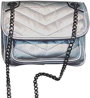 Hong Kong Style Wild Simple Chain Shoulder Bag Messenger Bag Crossbody Bag Student College Bag Portable Slung Bag