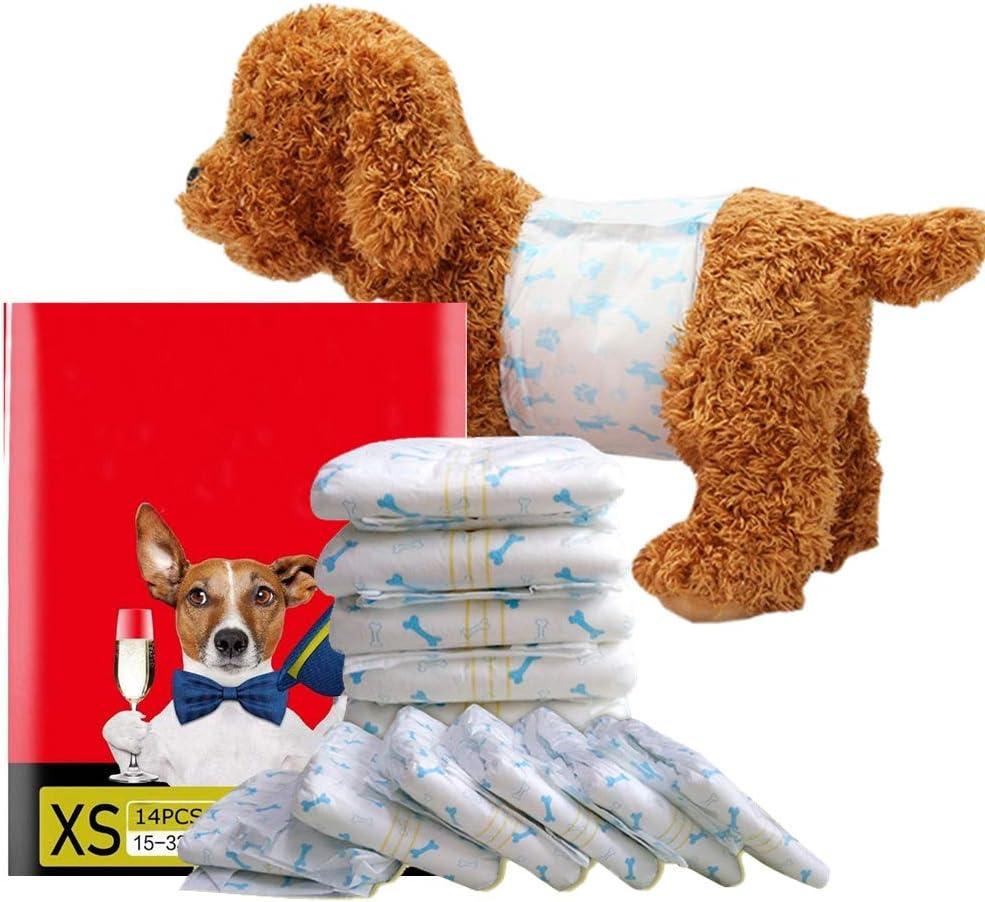 L 63-80cm// 8pz OWBB/® Pannolini USA e Getta per Cani e Gatti Maschi