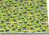 Landschaft Kühe Grasgrün 100% Cotton Hochwertig Fabric