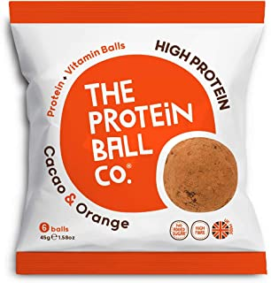 The Protein Ball Co. High Protein and Vitamin Cacao and Orange Protein Balls, 45 g