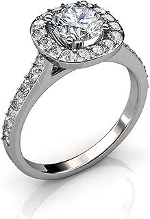 18k white gold swarovski ring