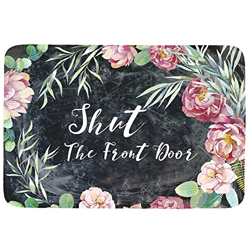 Shut The Front Door Doormat Entrance Mat Floor Mat Rug...