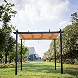 Kinbor 10' x 10' Grill Gazebo Pergola Outdoor Party BBQ Canopy Grape...