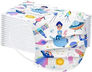 50 Pezzi Bambini Tessuto Viso Cotone Fashion Visiera Bocca Faccia Getta 3 Strati per Bambino_Protezione Del Viso Antipolvere