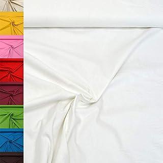 MAGAM-Stoffe Sophie Baumwollstoff Uni 100% Baumwolle Oeko-Tex Meterware 50cm 01. Weiß