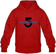 Babylon 5 1994 Logo Nerd O-Neck Long Sleeve Hoodie for Guys Adult
