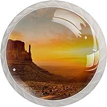 Natuur Landschap Zonsondergang Set van 4 Lade Knoppen Trekt Kast Handvat voor Thuis Keuken Garderobe Kast Home Decor Hardw...