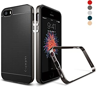 Spigen Neo Hybrid Designed for Apple iPhone SE Case (2016) - Gunmetal