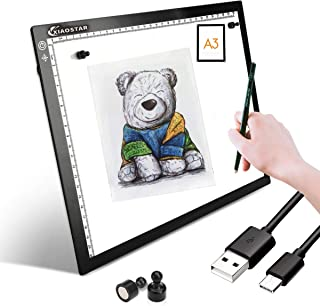 A3 Light Box Drawing Pad,Tracing Board with Type-C Charge Cable and Brightness Adjustable for Artists, AnimationDrawing, Sketching, Animation, X-ray Viewing (A3-ST)