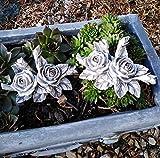 2 x Rosenbouquet Rose Rosen Rosenblüten mit Blätter auch Grabdekoration Grabschmuck wetterfest