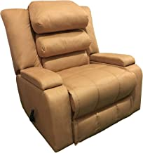 Recliner Rocking & Rotating Chair With Storage Container and Moveable Back Cushions - Biege