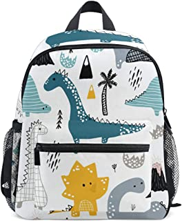 Cute Kid's Toddler Backpack Dinosaur Schoolbag for Boys Girls,Kindergarten Children Bag Preschool Nursery Travel Bag with Chest Clip((Dino Scandinavian Style))