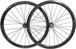 FSA Vision Metron 40 Carbon 700c Tubular Cyclocross CX Bike Disc Wheelset New