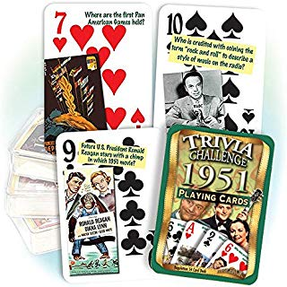 Flickback Media, Inc. 1951 Trivia Playing Cards: Great for Birthday or Anniversary