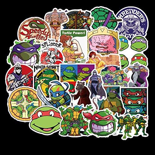 WYDML Teenage Mutant Ninja Turtles Cartoon Valigia Sticker Cellulare Valigia Skateboard Chitarra Sticker 50 Pz