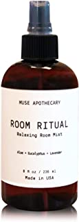 Muse Bath Apothecary Room Ritual - Aromatic and Relaxing Room Mist, 8 oz, Infused with Natural Essential Oils - Aloe + Eucalyptus + Lavender