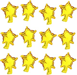 AnnoDeel 100 pcs Small Star Foil Balloons, 5inch Gold Star Mini Mylar Balloons for Wedding Birthday Baby Shower Party Deco...