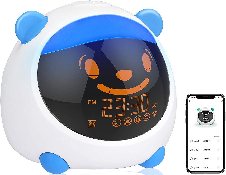 BRYUBR Kids Alarm Clock, WiFi Smart Children's Trainer, Sleep Tr