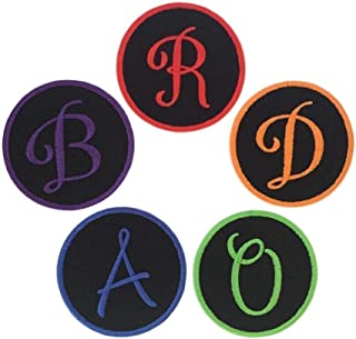 """Custom Embroidered Monogram Initial Iron On Patch - 3"""" - Choose Your Initial And Thread Color - (1 Patch)"""