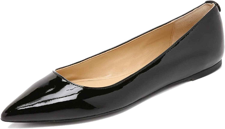 Jocbinltd Luxury Woman Flats Patent Leather shoes Woman Pointed Toe Flats Pumps Fashion Slip On Outdoor Ladies Flat shoes