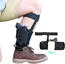 Non-slip Ankle Holster with Sheepskin Padding for Concealed Carry, Neoprene Ankle rig with MAG Pouch, Calf & Retention Straps for for Women Men Fits Small to Medium Frame Pistols and Revolver
