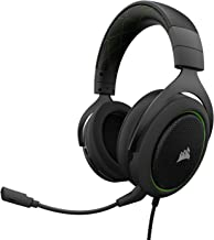 CORSAIR HS50 - Stereo Gaming Headset - Works with PC, Mac, Xbox One, PS4, Nintendo Switch, iOS and Android(CA-9011171-AP) - Green & Black