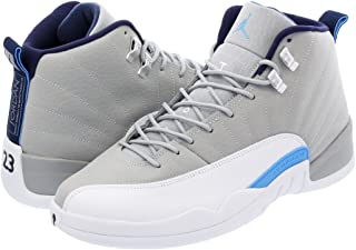 [ナイキ] AIR JORDAN 12 RETRO WOLF GREY/WHITE/NAVY/BLUE 【UNC】 [並行輸入品]