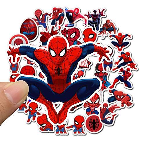 Qemsele Pegatinas Infantiles, 100 Piezas Pegatinas Sticker para niños Paquete de Pegatinas Graffiti Vinals para portátiles, automóviles, Motocicletas, Bicicletas, monopatines (004-Spiderman)