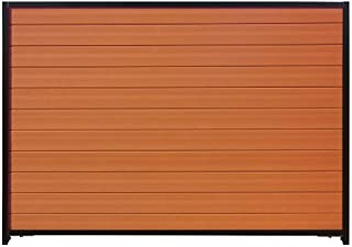 Natures Composites Santa Fe 6 ft. H x 8 ft. W Timber Brown/Black Composite/Steel Horizontal Privacy Fence Panel with Pos