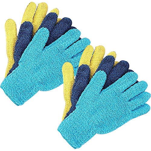 Kaimeilai 6 Stück Mikrofaser Handschuh, Reinigung Handschuh, Premium Autowaschhandschuh Wiederverwendbar Abstauben Fäustlinger, für die Profi Autoreinigung Autowaschschwamm, Felgenhandschuh