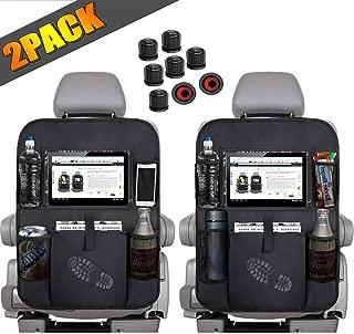XingMart Car Organizer Back Seat Kick Mat, Multi-Function Backseat Car Organizer, Touch Screen Tablet Storage Bag Store Flat, Mobile Phone, Umbrella, Toys and More, 2Pack