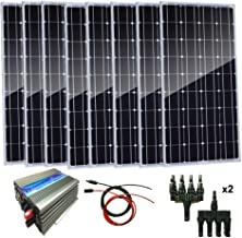 AUECOOR 800W Solar Panel Kit: 8x100W Solar Panels with 1000W Grid Tie Inverter for Home Use