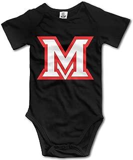 Miami M University Infant Short Sleeve Bodysuit Jumpsuit