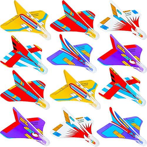 German Trendseller 3 x Styroporflieger - Mini Wurfgleiter - Mix l Einfach - Zusammenstecken und Losfliegen ┃ Mitgebsel ┃ Kindergeburtstag ┃3 Flieger