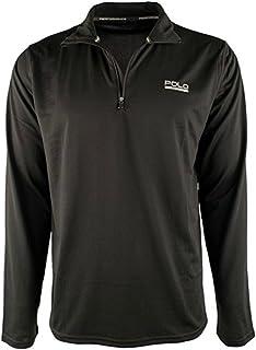 Polo Ralph Lauren Mens Mock Neck Moisture Wicking 1/4 Zip Pullover Black XXL