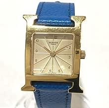 (エルメス)HERMES HH1.201 Hウォッチ レディース腕時計 腕時計 GP/革ベルト レディース 中古