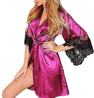 9219886034d Jiayit Lingerie Robe for Women for Sex Silk Kimono Dressing Babydoll Lace  Nightwear