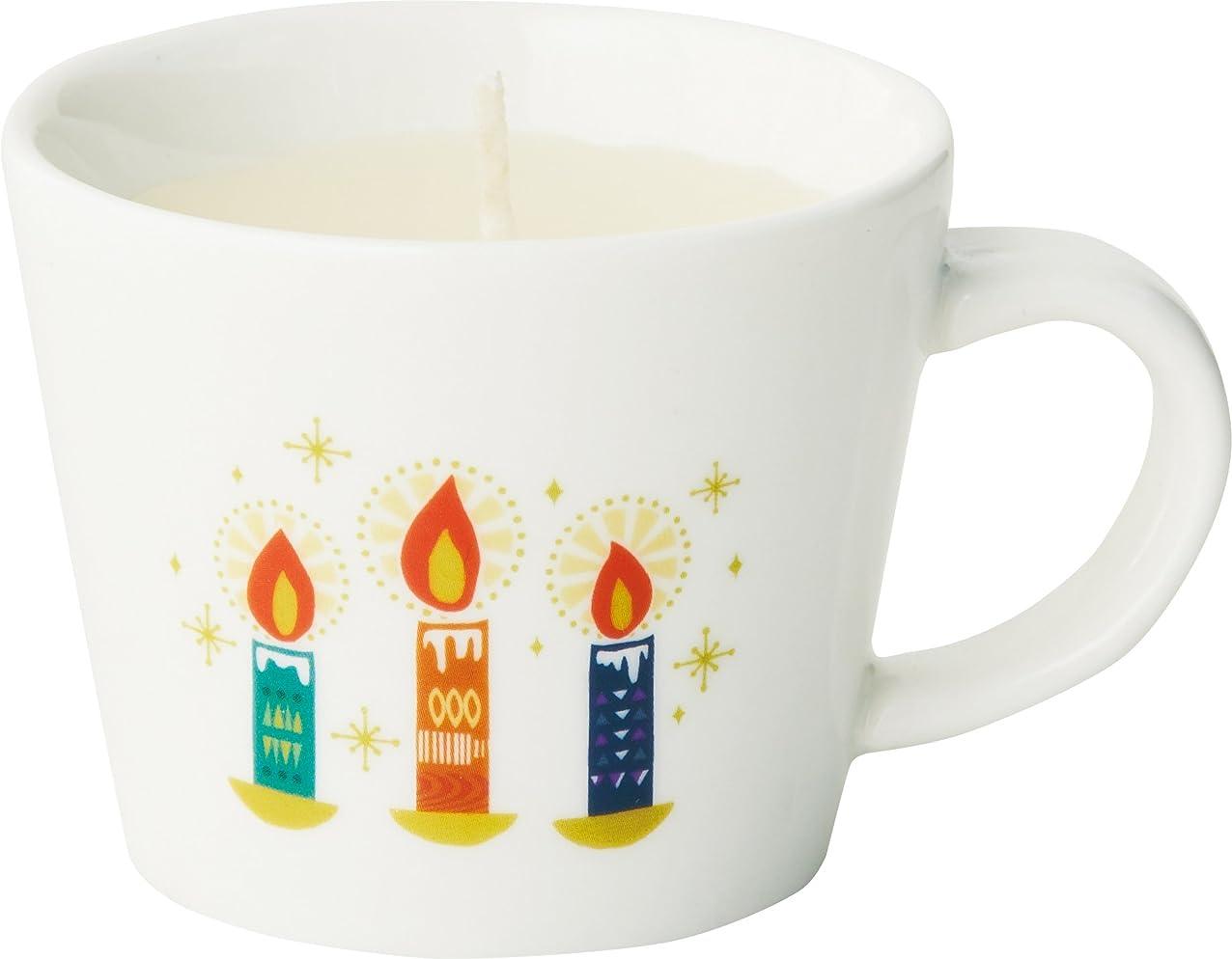 鳩祝福メタルラインカメヤマキャンドルハウス HYGGE ヒュッゲ マグカップキャンドル キャンドル(ホットミルクの香り)