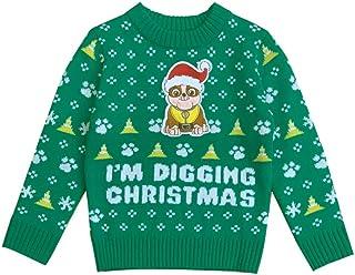 Suéter infantil de Natal I'm Digging Patrulha Canina de Rubble fofo e feio