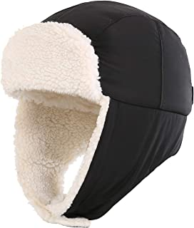 Toddler Boys Girls Sherpa Earflap Hat Kids Winter Hat Snow Ski Hat