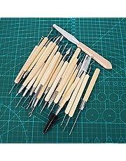 22 stks Clay Sculpting Tool Houten Handvat Vormgeven Snijden Aardewerk Tool voor Klei Aardewerk